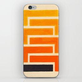 Orange & Black Geometric Pattern iPhone Skin