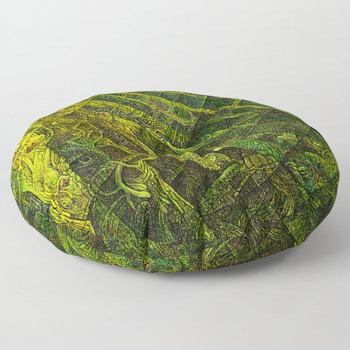 Mayan Awakening Floor Pillow