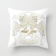 Miss You (Kitsch Symmetry series)  Throw Pillow