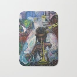 African American Masterpiece 'Old Time Mississippi Jazz' by W. Tolliver Bath Mat