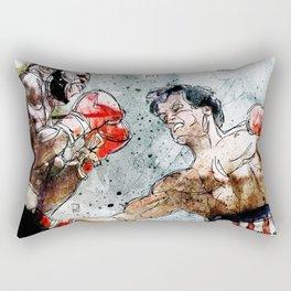 Boxing: Rocky Balboa vs Clubber Lang Rectangular Pillow