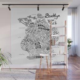 Brooklyn Map Wall Mural