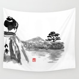 geisha's watching Wall Tapestry