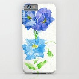 Himalayan Blue Poppy iPhone Case
