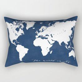The world awaits world map Rectangular Pillow