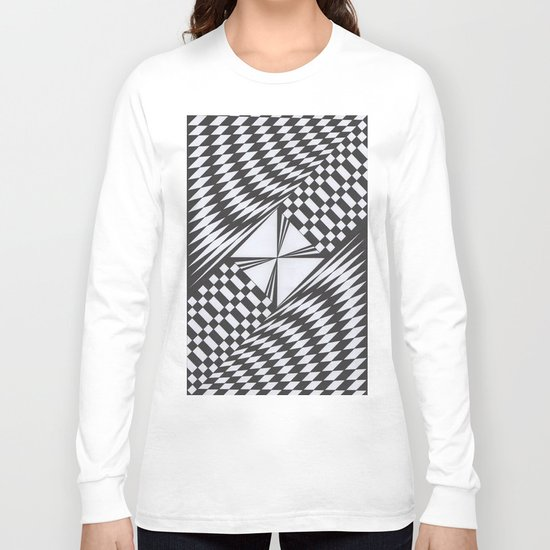Crosswise Long Sleeve T-shirt