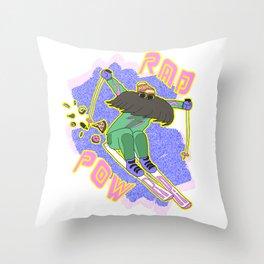True '80s Ski Legend - Rad Pow Throw Pillow