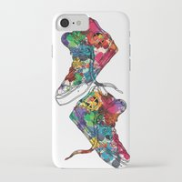 sneakers iPhone & iPod Cases featuring Paint sneakers by Cindys