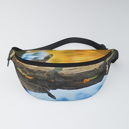 Turtle on the stone Fanny Pack