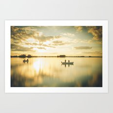 Ghosts on a Boat Art Print