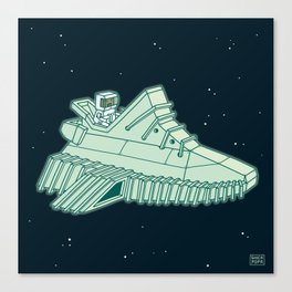 space sneaker 4 Canvas Print