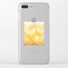 Begonias pattern design Clear iPhone Case