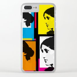 VIRGINIA WOOLF (FUNKY COLOURED COLLAGE) Clear iPhone Case