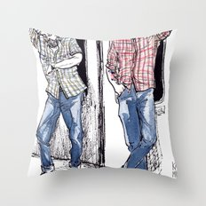 Urban Lumberjacks by Kat Mills Throw Pillow