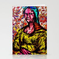 mona lisa Stationery Cards featuring Mona Lisa by Alec Goss