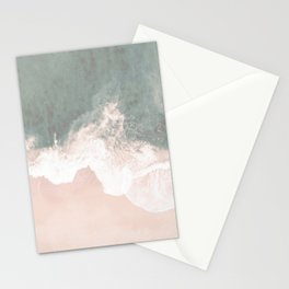 Beautiful Turquoise Lace Seashore And Ocean Stationery Cards