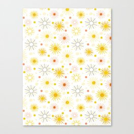 Orange Yellow Summer Sun Canvas Print