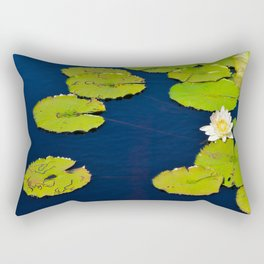 Dark Blue Pond by Teresa Thompson Rectangular Pillow