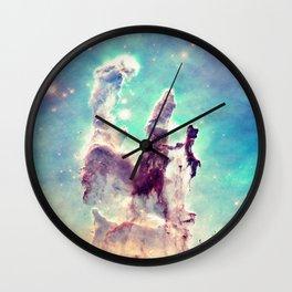 Pillars of Creation Aqua Cool Wall Clock