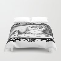 larry stylinson Duvet Covers featuring Scary Larry by stco