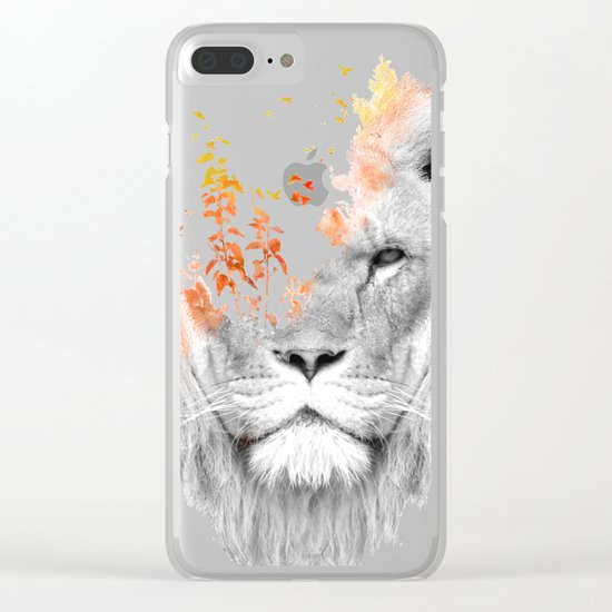 If I roar (The King Lion) Clear iPhone Case