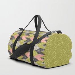 Kilim Weaving Structure Green & Blush Duffle Bag