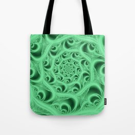 Fractal Web in Flourescent Green Tote Bag