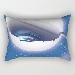 Travel the World - go by airship Rectangular Pillow