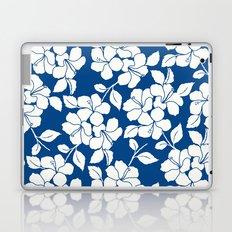 Hibiscus Floral: Marine Blue Laptop & iPad Skin
