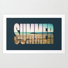 Summer - Frontignan beach in southern france - seascape Art Print