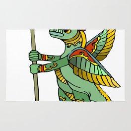 Ancient Egyptian Painting - Dragon Warrior Rug