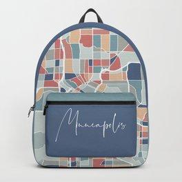Minneapolis Map Art Backpack