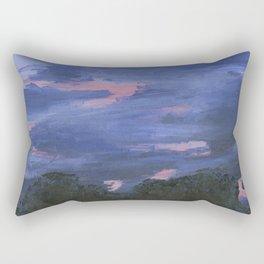 Cloudy Sunset Painting Rectangular Pillow