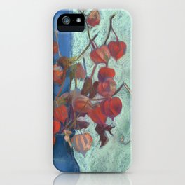 Still life with winter cherry iPhone Case