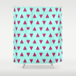 Watermelon Turquoise Shower Curtain