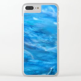 O' deep blue sea water painting Clear iPhone Case
