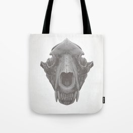 Grizzly Skull Tote Bag