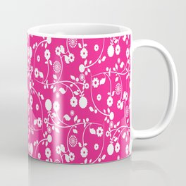 Rose Pink Floral Pattern Coffee Mug