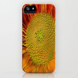flower of sun (This Art work is in collaboration with the great artist designer Joe Ganech) iPhone Case
