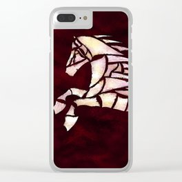 Cavallerone - white horse Clear iPhone Case