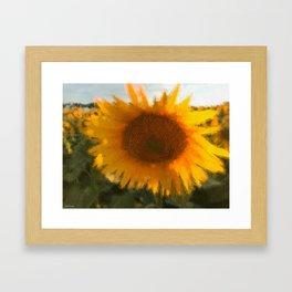 love yellow Framed Art Print