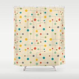 Mid-Century Dots Pattern Shower Curtain