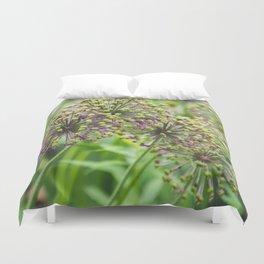 Purple Allium Duvet Cover