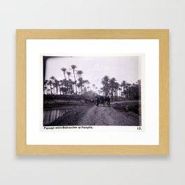 Landskap mellan Badrashin och Memfis Framed Art Print
