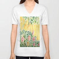 tiffany V-neck T-shirts featuring Tiffany Inspired by Rosie Brown