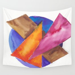 180819 Geometrical Watercolour 6| Colorful Abstract | Modern Watercolor Art Wall Tapestry