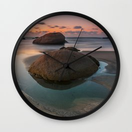 Rock beach Wall Clock