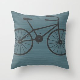 Grey Bike by Friztin Throw Pillow