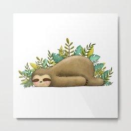 Sloth Life Metal Print