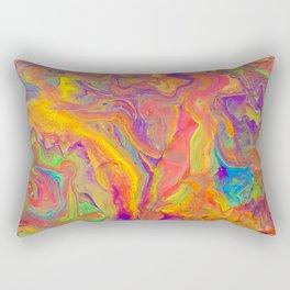 Unicorn psychedelic ice cream Rectangular Pillow